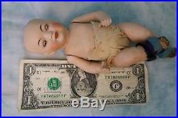 7-1/2 Inch All Bisque Kestner 179.1 Oriental doll Swivel head, Brown Sleep eyes
