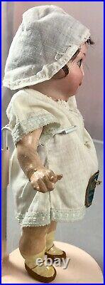 7 Antique German Bisque Head Googly AM 253 Nobbi Kid Doll Original Tag! 18073