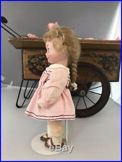 9 Antique Bisque Head German Doll GB 253 AM Googly Nobbi Kid