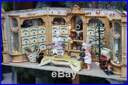 ANTIQUE DOLL HOUSE 1880s GERMAN GOTTSCHALK LARGE GERMAN CORNER SHOP Casa Bambole