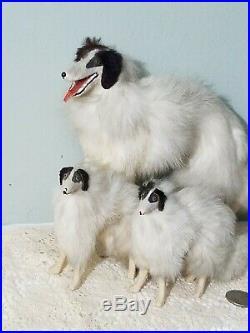 ANTIQUE FUR BORZOI KESTNER BRU salon dog FRENCH fashion doll companion GERMANY