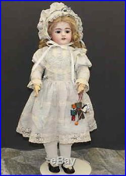 ANTIQUE GERMAN BISQUE DOLL With Toys by SIMON & HALBIG mold 1079