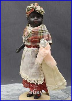 ANTIQUE GERMAN BISQUE DOLL with BABY - ALL ORIGINAL - by KUHNLENZ