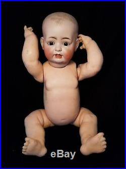 ANTIQUE German Bisque HERTEL & SCHWAB #151 Composition Baby Doll SLEEP EYES 20
