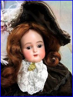 ANTIQUE Simon & Halbig KR #43 DOLL German BISQUE head COMP body 17 old clothes