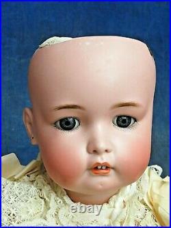 ANTIQUE Simon & Halbig RARE 1299 German BISQUE baby DOLL 20 original SILK GOWN