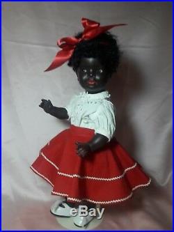 Adorable! Black German Antique Doll Konig Wernicke Flirty-eyes Kw 134.16/0 15