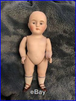 All Bisque 5 Chubby Kestner 720 Antique German Doll Mignonette Indigo Eyes