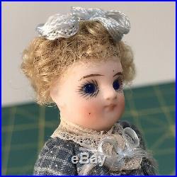 All Bisque Mignonette Antique Doll