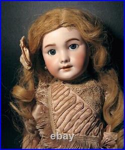 All Original Antique 20.5 Tete Jumeau/SFBJ 301 Size#9 Bisque Head Doll EX/NM