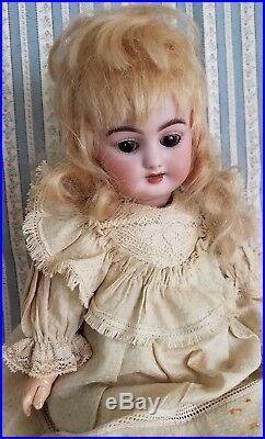 Antique 11 Simon & Halbig Bisque Doll 1009 DEP Orig Wig Dress Composition Body