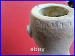 Antique 12 Kestner Germany (154 1) Dep Doll Leather Body Bisque NO EYES (C1)