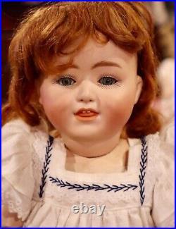 Antique 15 German Bisque Glass Eyed 8413 Gebr Heubach Doll withPerfect Bisque