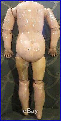Antique 15 Kestner Straight Wristed Doll Body with8 Ball Joints, RARE
