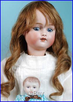 Antique 168.9 Kestner German Bisque doll 21 plus mini porcelain boy doll