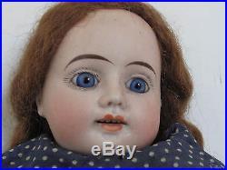 Antique 16 German Bisque Shoulder Head Doll
