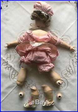 Antique 18 Simon & Halbig KR 46 German Bisque Doll Original Dress