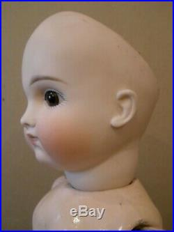 Antique 18 early pouty Kestner doll on French body