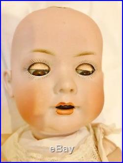 Antique 1920 BP 585 G Bahr & Proschild Bisque Toddler Baby Doll Composition 17