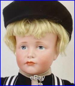 Antique 19 114 Hans Closed Mouth German Bisque Kammer Reinhardt Doll withOrigBody