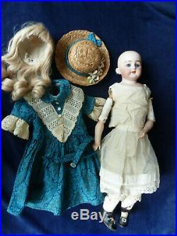 Antique 19 German Simon Halbig 1070 Bisque Doll Sweet No Damage