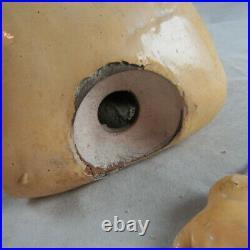 Antique 20 Simon Halbig Dep #1079 German Bisque Doll Socket Head Repair Parts