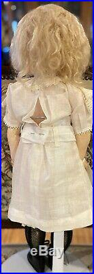 Antique 21 German Bisque Kestner CM XII Pouty Doll withStraightwristed Body