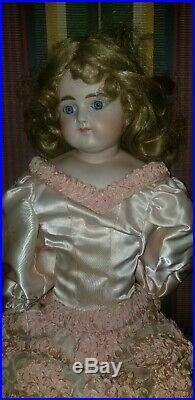 Antique 25 Alt Beck Gottschalk Turned Head Closed Mouth Bisque Doll 639 11