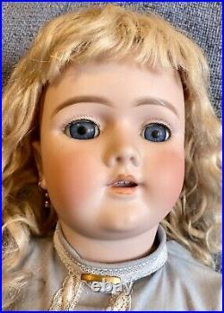 Antique 25 German Handwerck Doll With Original Body& Long Original Mohair Wig