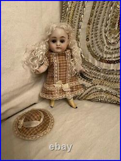 Antique 5.25 All Bisque Kestner 150 Doll With Yellow Boots As Is Displays Well