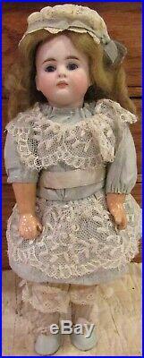 Antique 9 German Bisque Closed Mouth Glass Eyed 208 Bahr Proschild Belton Doll