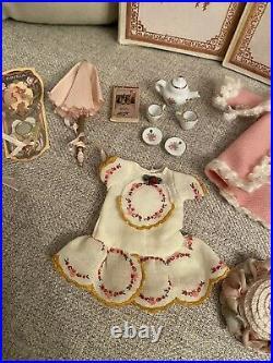 Antique All Bisque 6 Bruno Schmidt German Doll With Wardrobe And Accessories