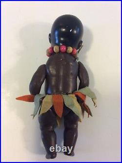 Antique Bisque Black Doll Heubach Hoppelsdorf 399 12/0 Germany