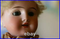 Antique Bisque CIRCUS DOLL Clown Automaton, Key Wind