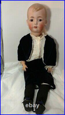 Antique Bisque Doll 26 Bruno Schmidt Tommy Tucker