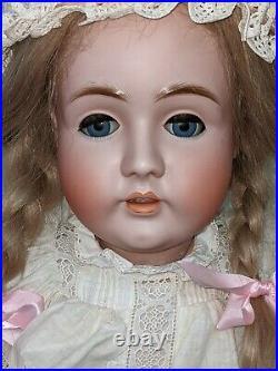 Antique Bisque Doll Kestner Germany 35 142 Gorgeous Dress. Huge Doll