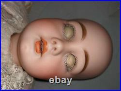 Antique Bisque Doll Simon And Halbig 939 No Cracks Silk Dress Sleep Eyes 26