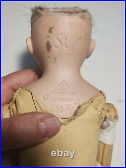 Antique Bisque German Doll 18 Ohlhaver 151 Original Body Eyes Perfect Hands