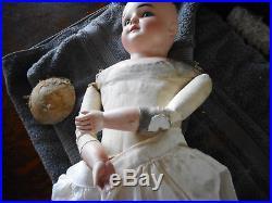 Antique Bisque Headed 24 Kestner K slight turned head Doll