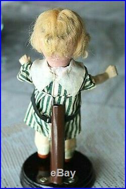Antique Bisque Swivel Head Sleep Eye Googly Doll 7 Original Clothes + Coat/hat