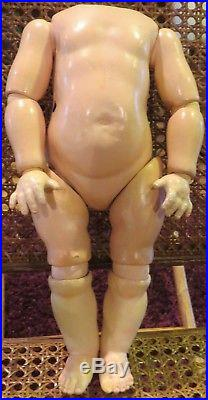 Antique C1910 German 12 Toddler Side Hip Jointed Doll Body 1 3/4 Across