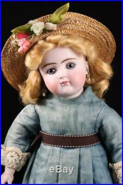 Antique Closed Mouth Belton 106 Sonneberg 17 Doll Pierce Ears Bisque German