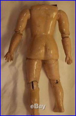 Antique Composition Doll Body, 8 1/2 IN, Ball Jointed Doll Body Straight Wrists