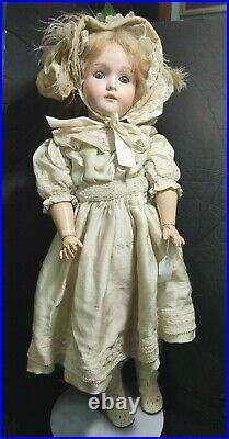 Antique Doll German Bisque 24 Pansy Original Eyes George Borgfeldt