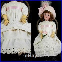 Antique Doll German Large Kestner 171 Org Marked Body Org Wig Pate 26 Fabulous