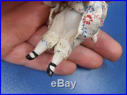 Antique Dolls Germany christmas child snow child girl with dress Limbach 1900