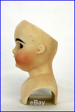 Antique Early German Bisque Shoulder Head Doll ca1890