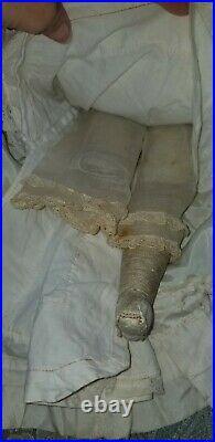 Antique Early Kestner 17 Size 8 Bisque Closed Mouth Socket Shoulder Plate Doll
