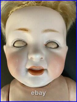 Antique German 14 Kestner JDK 211 Sammy Character Bisque Head Boy Baby Doll