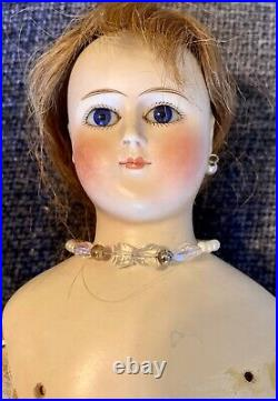 Antique German 16 C1880 German Fashion Lady Doll With Great Outfit